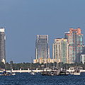 Biscayne Bay At Miami Yatch Club by Ed Gleichman