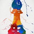Bishop Chess Piece Paint Splatter by Dan Sproul
