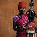 Bison Horn Maria Girl by Franck Metois