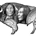 Bison Indian Montage 2 by Greg Joens