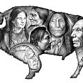 Bison Indian Montage by Greg Joens