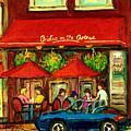 Bistro On Greene Avenue In Montreal by Carole Spandau