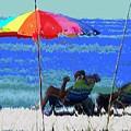 Bit Of Shade On The Beach by Ian  MacDonald