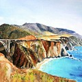 Bixby Bridge Big Sur Coast California by Carlin Blahnik CarlinArtWatercolor