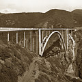 Bixby Creek Aka Rainbow Bridge Bridge Big Sur Photo  1937 by California Views Archives Mr Pat Hathaway Archives