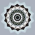 Black And Blue Mandala by Taiche Acrylic Art
