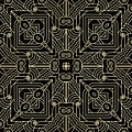 Black And Gold Art Deco Filigree 001 by Ruth Moratz