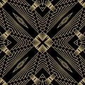Black And Gold Art Deco Filigree 002 by Ruth Moratz