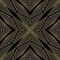 Black And Gold Art Deco Filigree 003 by Ruth Moratz