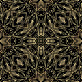 Black And Gold Filigree 001 by Ruth Moratz