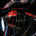 Black And Red Harley 5966 H_2 by Steven Ward