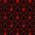 Black And Red Hearts by Kathleen Sartoris