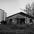 Black And White Abandoned Barn by Maggy Marsh