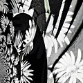 Black And White Abstract Floral by Kathy Othon