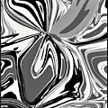 Black And White Abstract Flower by Debra Lynch