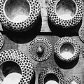 Black And White Abstract Pattern Beautiful Traditional Bowls by Srdjan Kirtic