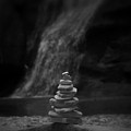 Black And White Balanced Stones by Dan Sproul
