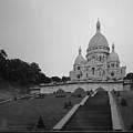 Basilique Du Sacre Coeur In Pre Dawn Paris Bw by Ursa Davis