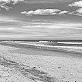 Black And White Beach by Kelley Freel-Ebner