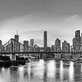 Black And White Brisbane Landscape by Chris Smith