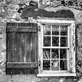 Black And White Cottage Window by Geraldine Scull