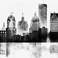 Black And White Detroit by Dim Dom