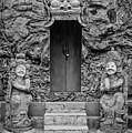 Black And White Doors On Campuhan Ridge Walk, Ubud, Bali by Global Light Photography - Nicole Leffer