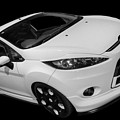 Black And White Ford Fiesta by Vicki Spindler
