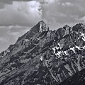 Black And White Grand Teton Detail by Dan Sproul