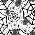 Black And White Halloween by Kathleen Sartoris
