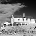 Black And White Image Of A House In New England In Infrared by David Thompson