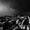 Black And White Lighting Over Kansas City by Steven Crown