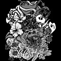 Black And White Love Bouquet by William Barron