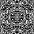 Black And White Mandala 34 by Robert Thalmeier