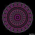 Black And White Mandala No. 3 In Color by Joy McKenzie