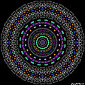 Black And White Mandala No. 4 In Color by Joy McKenzie