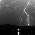 Black And White Massive Lightning Strikes by James BO Insogna