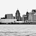 Black And White Motor City Pano by Frozen in Time Fine Art Photography