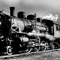 Black And White Of An Old Steam Engine  by Jeff Swan