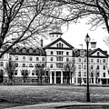 Black And White - Old Main - Widener University by Bill Cannon