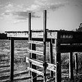 Black And White Old Time Dock by Parker Cunningham