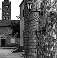 Black And White, Old Town Rab Streetscape, Rab, Croatia by Global Light Photography - Nicole Leffer