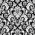 Black And White Paisley Pattern Vintage by Saundra Myles