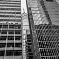 Black And White Philadelphia - Skyscraper Reflections by Bill Cannon