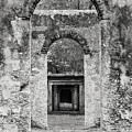 Black And White Photograph Beaufort Historic Church - Chapel Of The Ease by Bill Swindaman