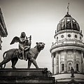 Black And White Photography - Berlin - Gendarmenmarkt Square by Alexander Voss