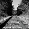 Black And White Railroad by Michael Waters