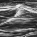 Black And White River Water Abstract  by Jeremy Holmes