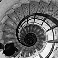 Black And White Spiral by Erin Donalson