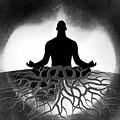 Black And White Spiritual Grounding by Serena King